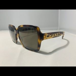 NEW!! $535 CHANEL SQUARE Tortoise  Sunglasses 5408